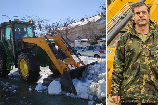 El tractor de Pepe: la pala contra la nieve