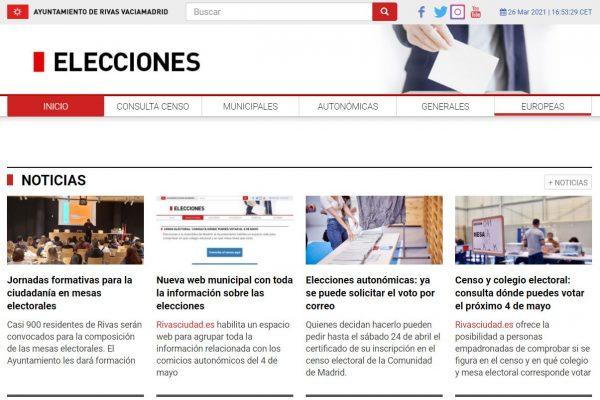 Nueva web municipal con toda la información sobre las elecciones