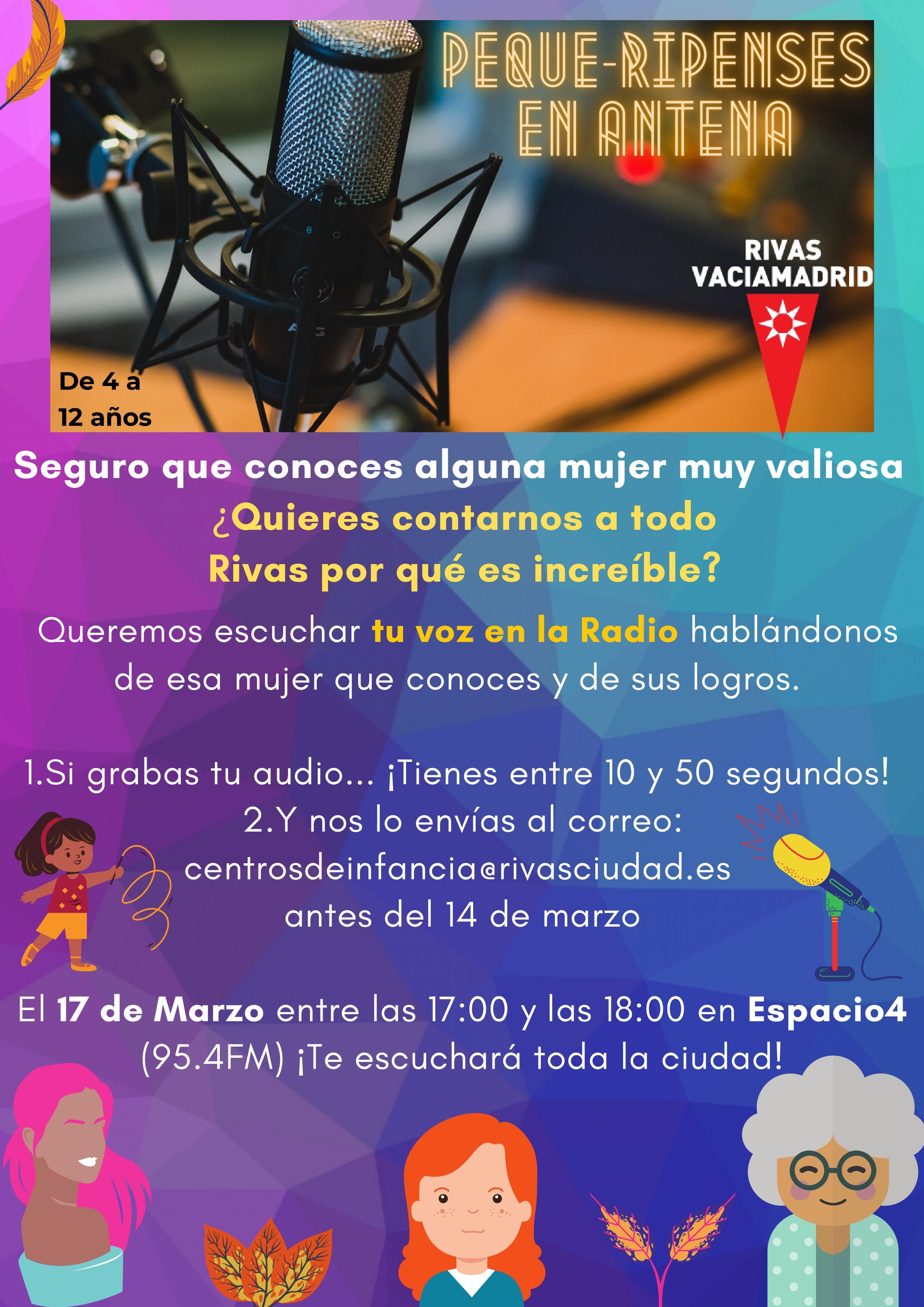 Peque-ripenses en antena - Participación infantil en programa de radio