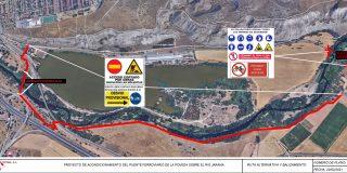 Cierra el puente metálico sobre el Jarama por obras de mejora