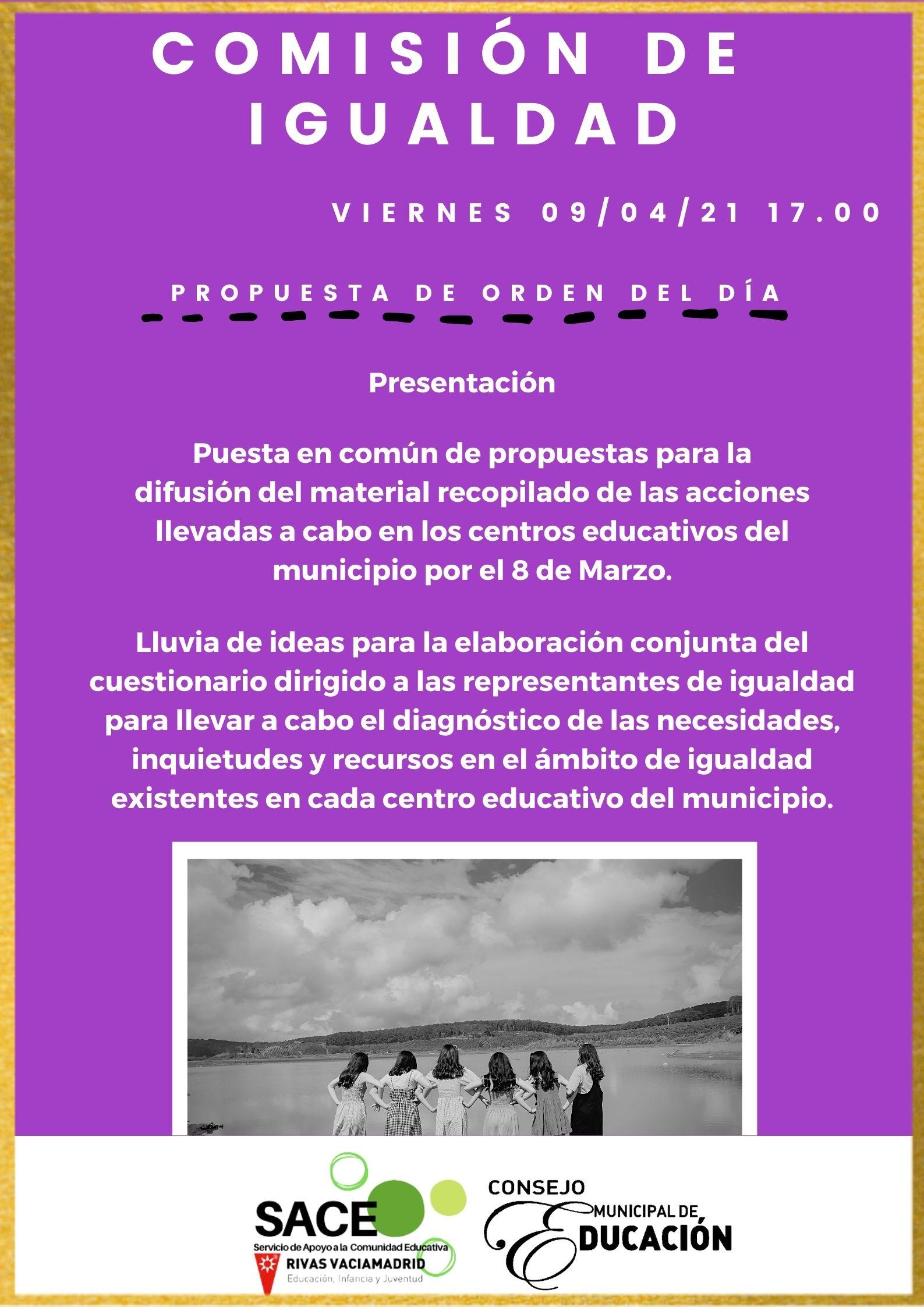 Comisión de igualdad del Consejo Municipal de Educación de Rivas Vaciamadrid