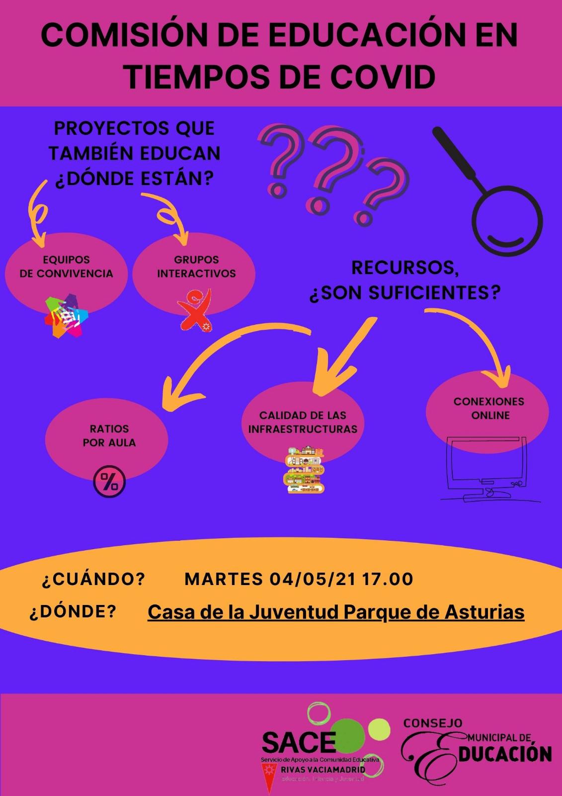 Comisión de educación en tiempos de Covid del Consejo Municipal de Educación de Riva