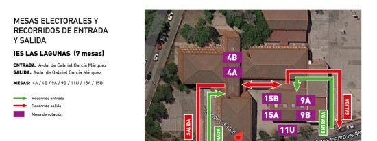 Mapa: cómo entrar en su colegio electoral, localizar su mesa y abandonar el centro