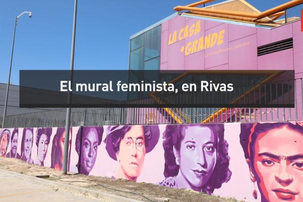 El mural feminista, en Rivas