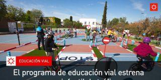 El programa de educación vial estrena nuevo parque infantil de tráfico