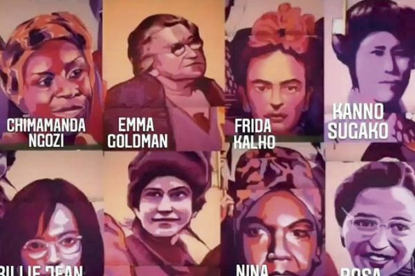 El mural feminista vandalizado de Madrid y Getafe, a Rivas