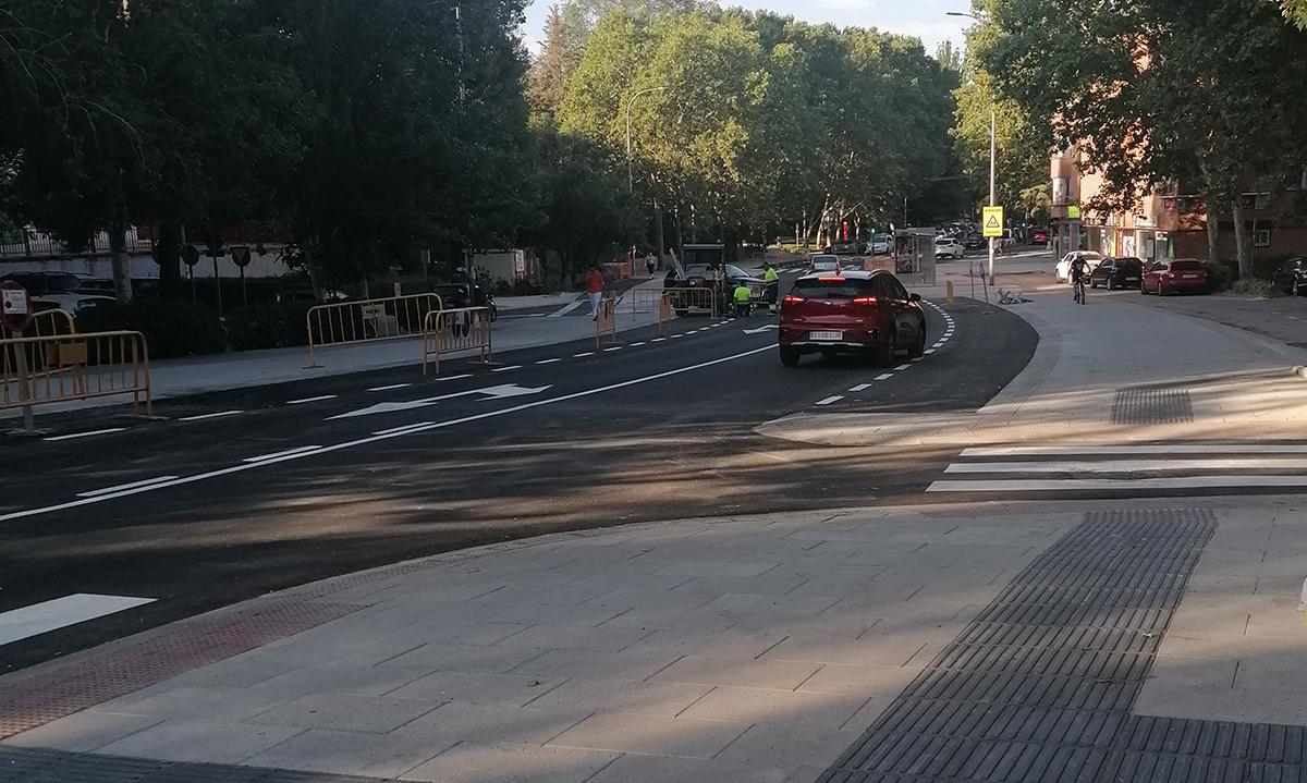 Se reanuda el tráfico en la avenida de Covibar un día antes de lo previsto