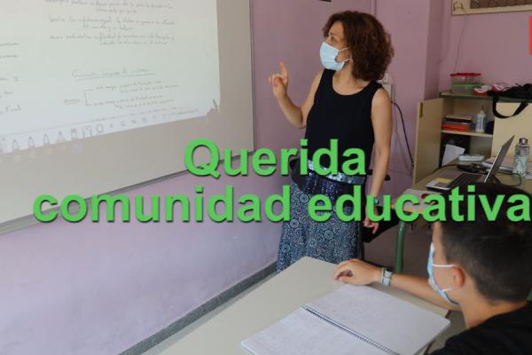 Agradecimiento a la comunidad educativa de Rivas