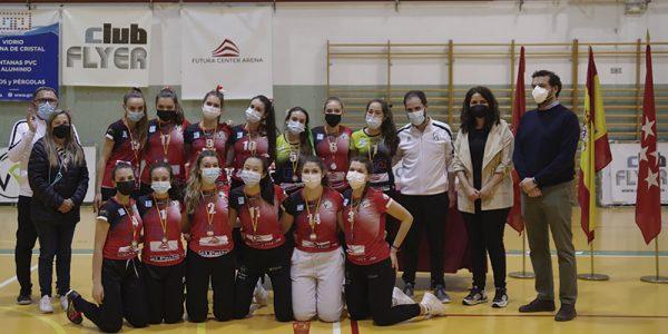 Dos bronces autonómicos para el voleibol de Rivas